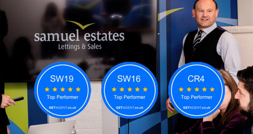 Samuel Estates Receive GetAgent's Top Performer Awards